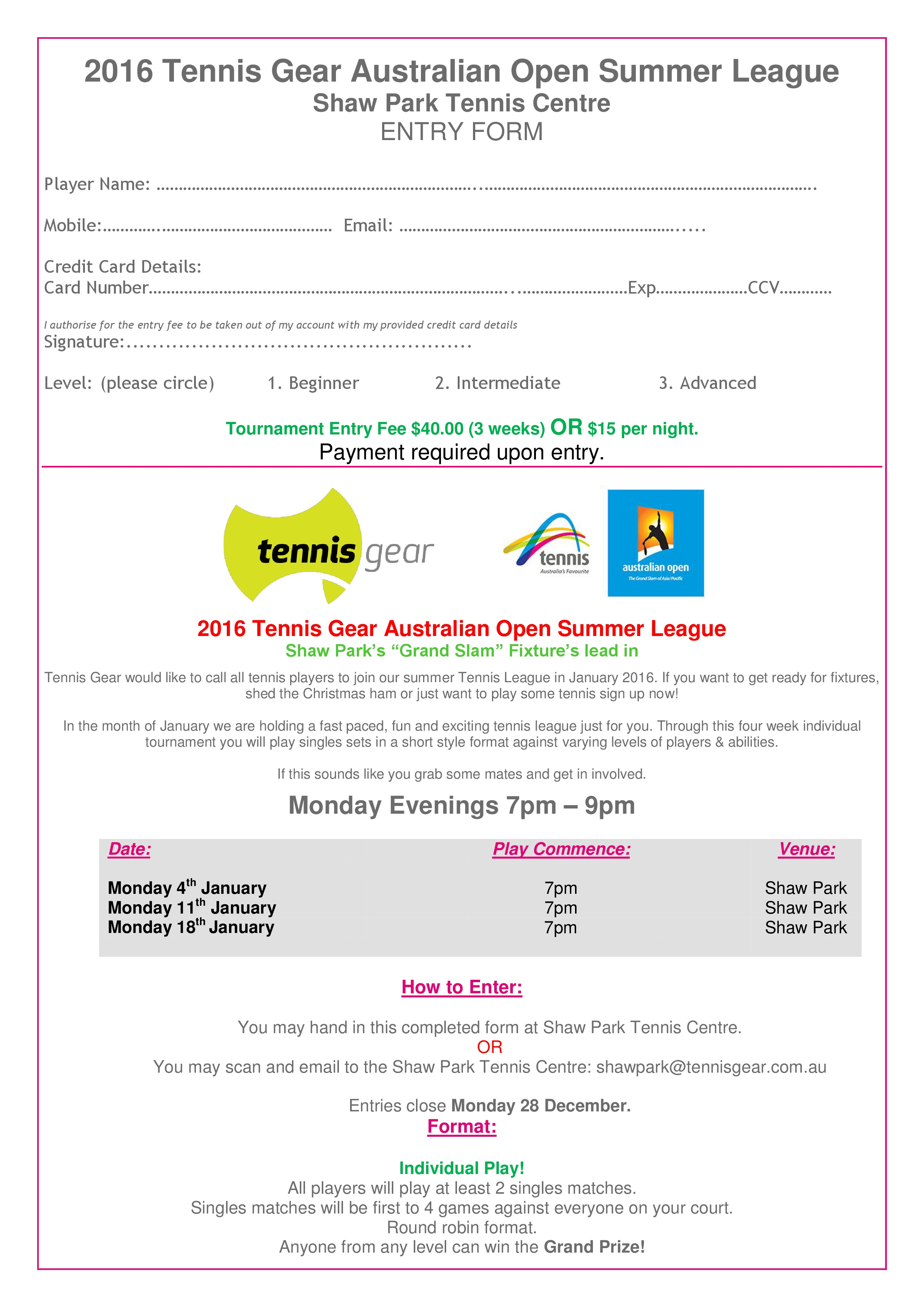 SPTC Summer League 2016 Entry Form-page-0