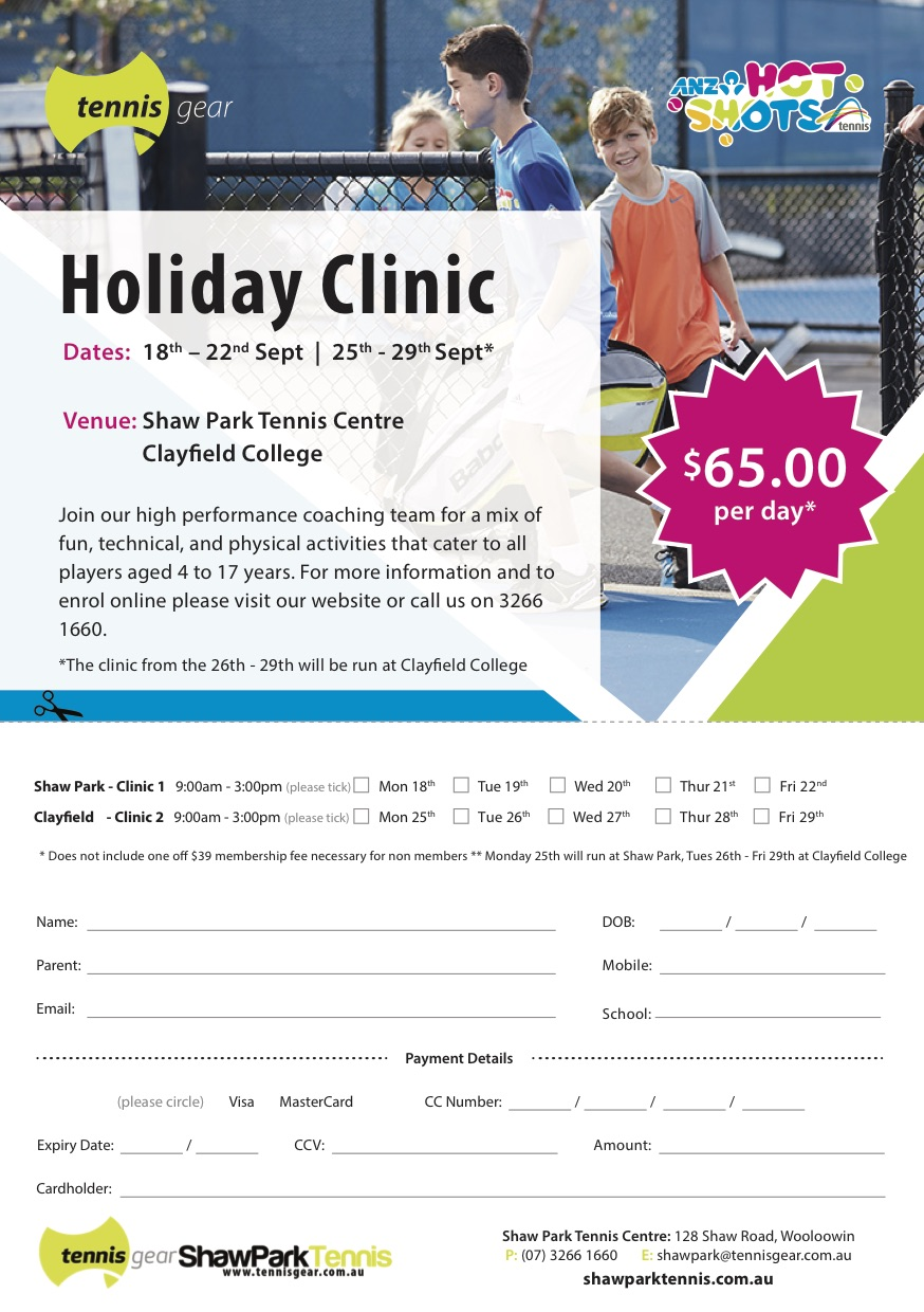 Shaw clinic flyer Sept 2017
